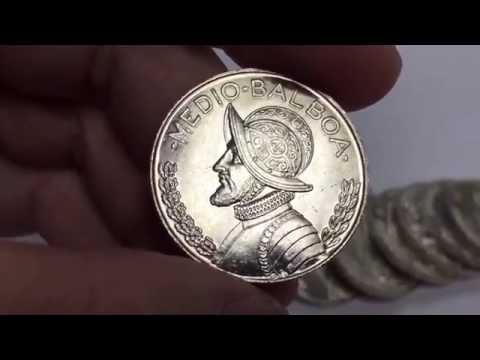 1962 Republica De Panama Silver Medio Balboa Coins