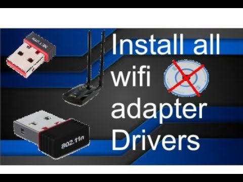How To Install Drivers On Wifi Adapter Without Cd || Wifi Adapter Driver Installation Without CD