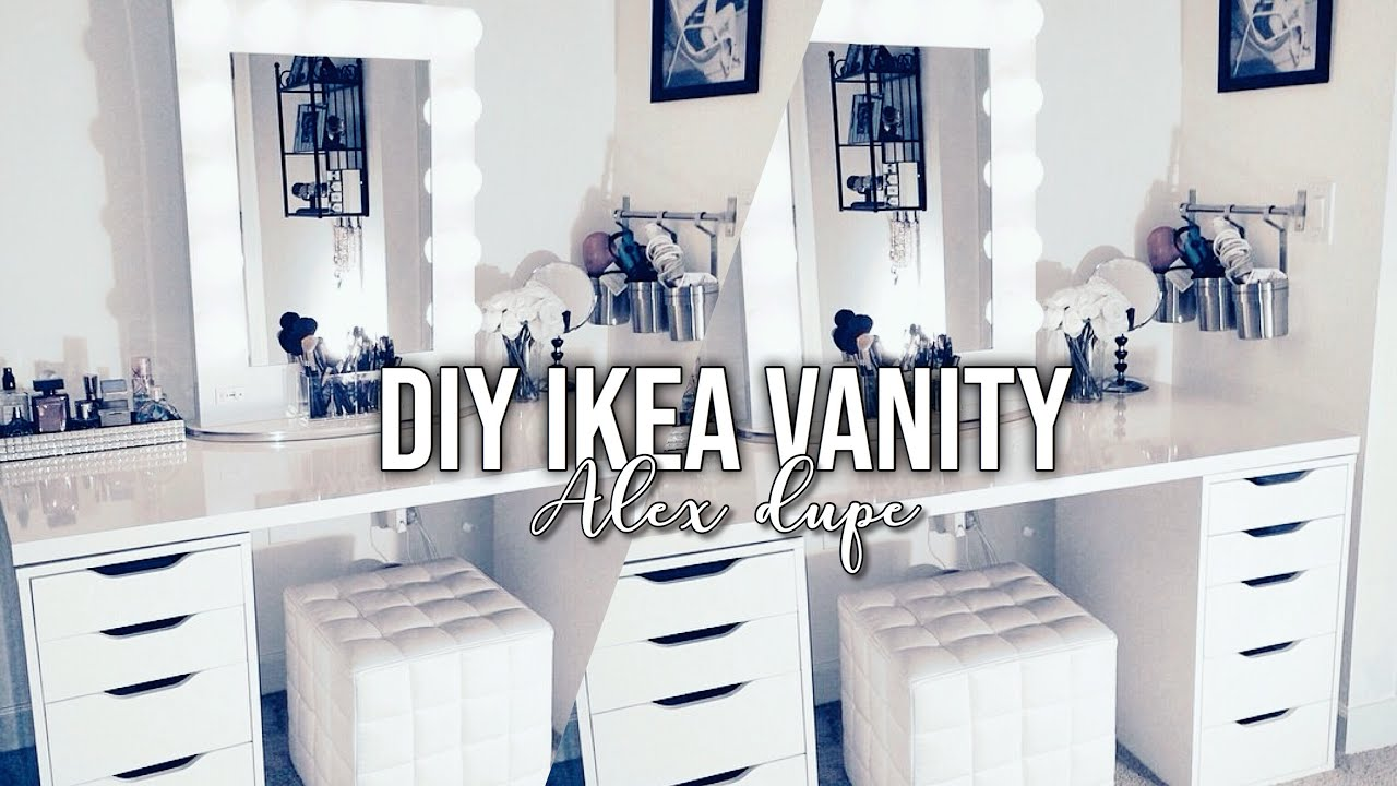 Diy Ikea Vanity Under 80 L Alex Dupe