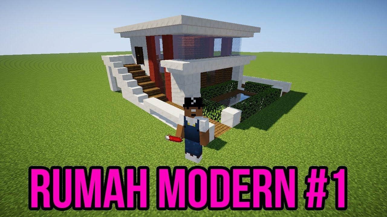 Cara Membuat Rumah Modern Sederhana Minimalis Minecraft 1 Youtube