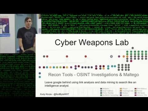 Maltego - Cyber Weapons Lab - Research like an OSINT Analyst