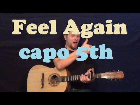 Feel Again (One Republic) Guitar Lesson Easy Strum Chords Licks How to Play Tutorial - Capo 5th