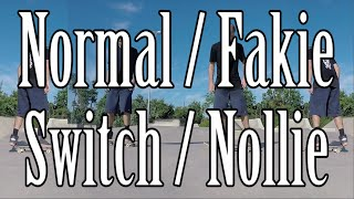 Differences Among Normal, Fakie, Switch, and Nollie Skateboarding Stances Explained