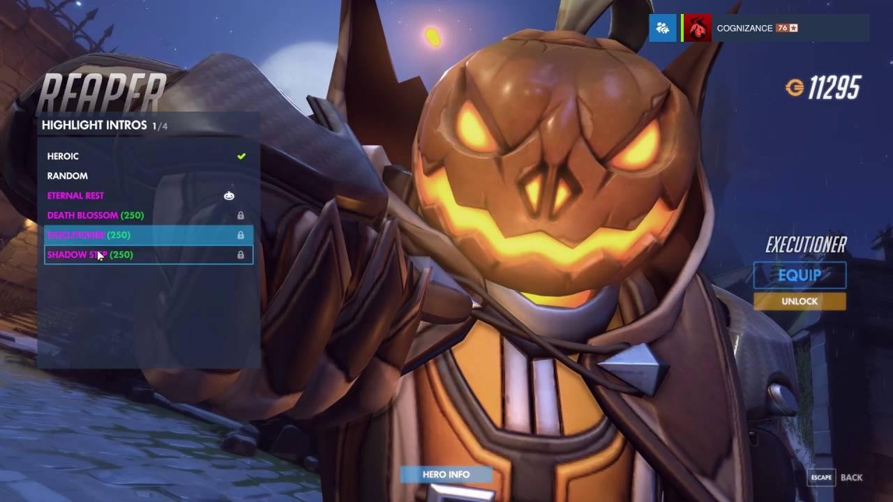 Reaper - Pumpkin - Overwatch Halloween Legendary Skin Spotlight ...