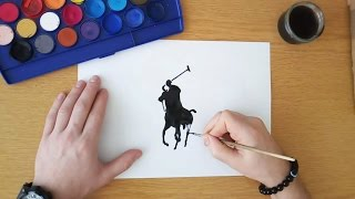 How to draw the Ralph Lauren Polo logo