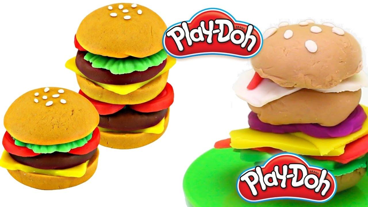 play doh burger barbecue giochi con la plastilina per bambini che buon profumo in cucina