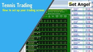 Betfair Tennis trading - How to set up your trading screen