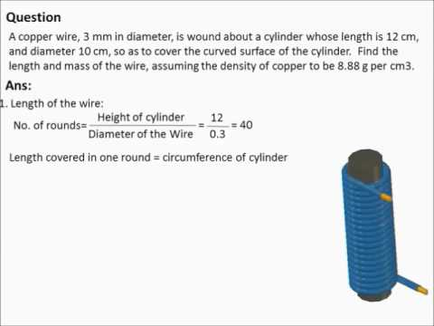 Diameter no 10 wire wire center a copper wire 3 mm in diameter is wound about a cylinder whose rh youtube com 10 awg wire diameter 10 gauge wire diameter greentooth Gallery