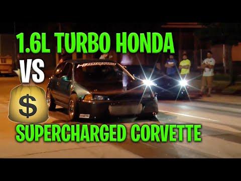 SuperCharged Corvette vs Turbo Honda Civic | $1600