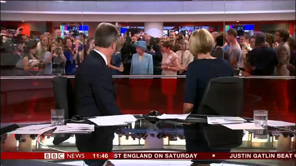 Queen Photobombs BBC News