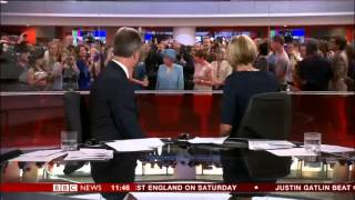 Queen photobombs BBC News