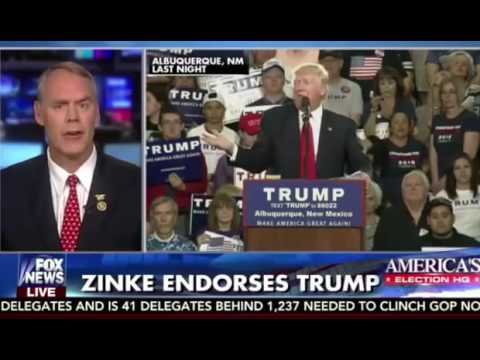 MT Congressman Ryan Zinke endorses Donald Trump  Fox  Friends FULL INTERVIEW 52516