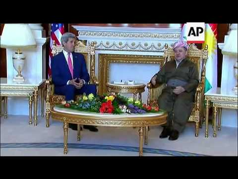 Secretary of State John Kerry met with Kurdistan Regional President Masoud Barzani in Irbil, Iraq. B