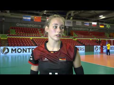 Day 2: Post-match interview with Germany's Louisa Lippmann (deutsch)