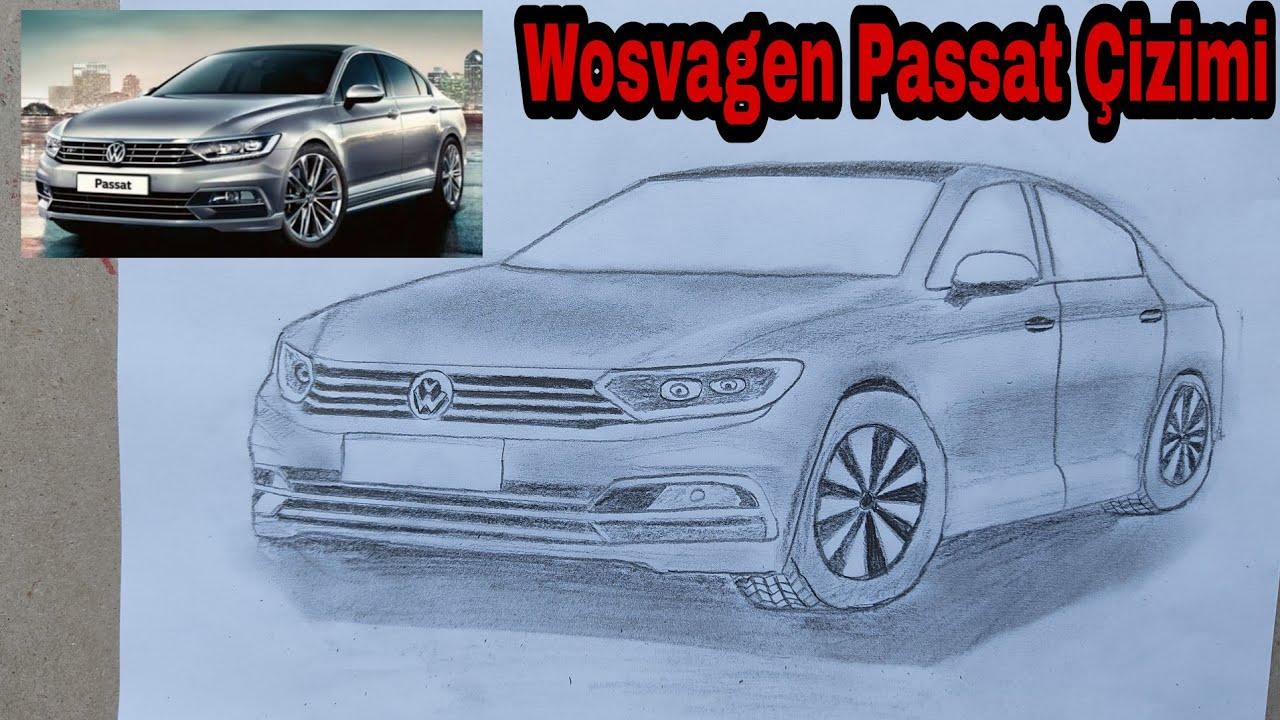 How to Draw a Car ? | Drawing Volkswagen Golf - (Araba Çizimi)