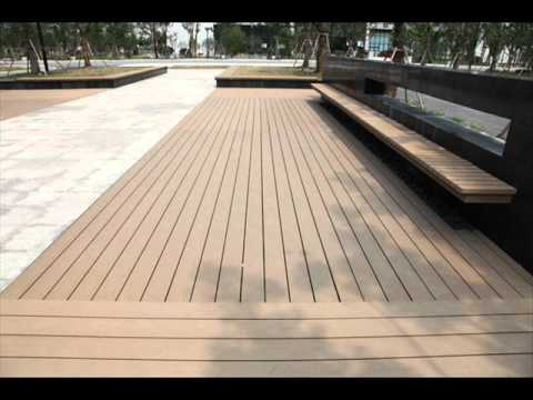 plastic wood patio flooring - YouTube