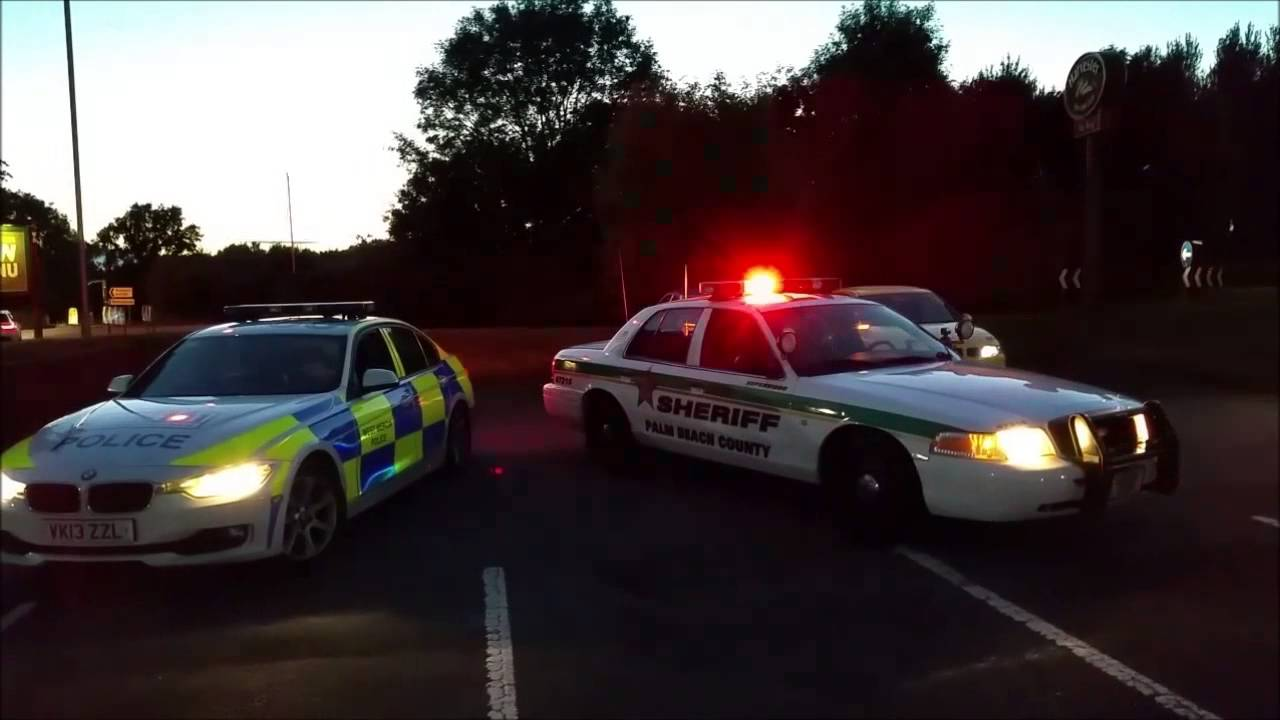 Ford Crown Victoria Police Interceptor In Uk With British Police Car Youtube