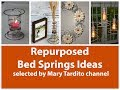 Repurposed Bed Springs Ideas - Old Things Turned into New Things Ideas – Recycled Home Decor
