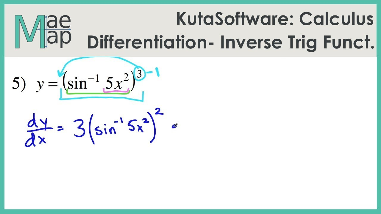 KutaSoftware: Calculus- Differentiation Inverse Trig Functions
