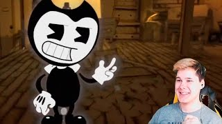 - НЕ ПОДТАНЦУЙ И НЕ ПОДПОЙ ЧЕЛЛЕНДЖ BENDY AND THE INK MACHINE SONG DAGames РЕАКЦИЯ