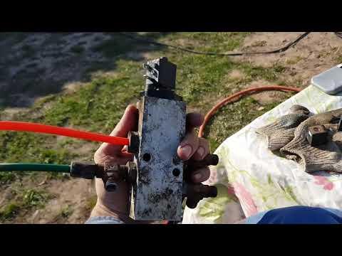 Ремонт системы подема осей на полуприцеп.