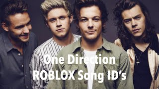 One Direction ROBLOX Song ID's