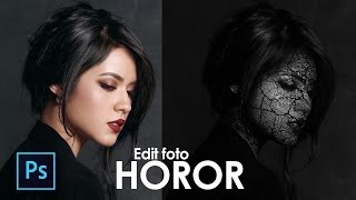 Cara Edit Foto Horor Photoshop - Edit Foto Keren Photoshop - Photoshop Tutorial Indonesia