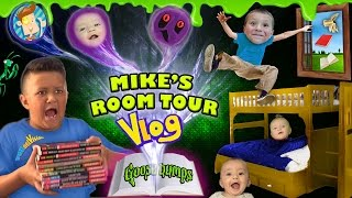 house tour 20 mikes room tour gives us goosebumps shawn gets sneaky funnel vision vlog