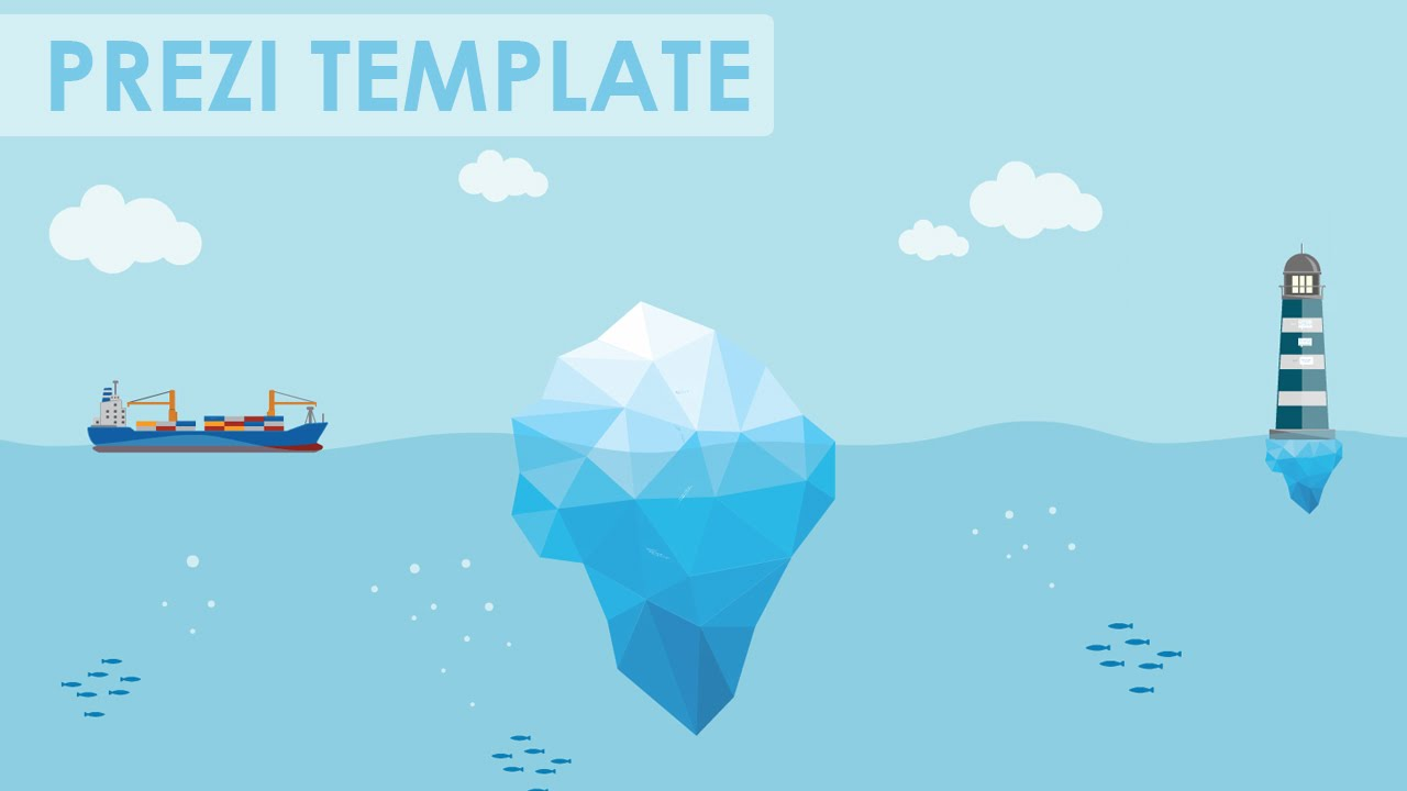 how to download prezi template - business risks iceberg prezi template youtube