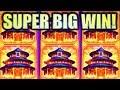 ★SUPER BIG WIN!★ BALLY BONANZA! BIG RED LANTERN Slot Machine Bonus