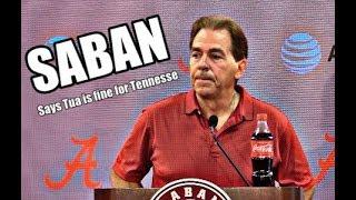 Alabama Crimson Tide Football: Nick Saban on Tua Tagovailoa status and Raekwon Davis