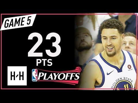 Klay Thompson Full Game 5 Highlights Warriors vs Rockets 2018 NBA Playoffs WCF - 23 Pts!