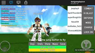 I do not know to fly nor to be able Dragao bol Roblox