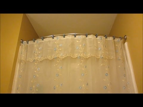 Bliss Curved Shower Curtain Rod Review and Demo