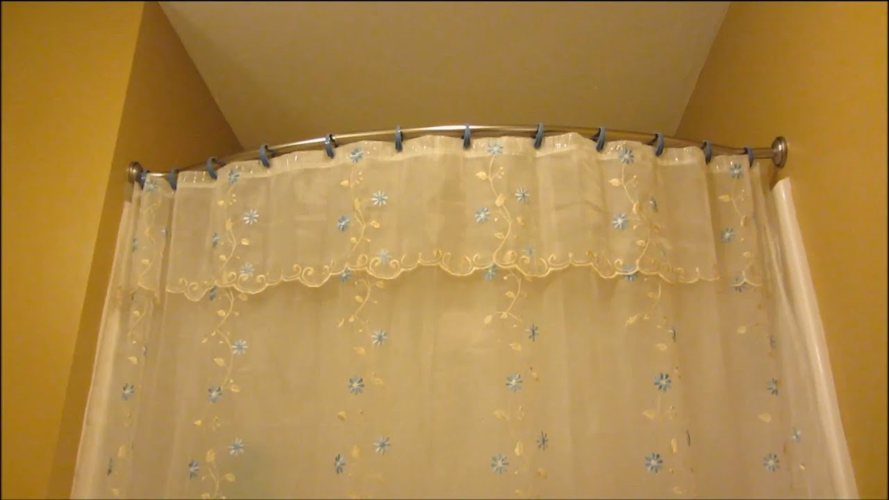 bliss curved shower curtain rod review and demo youtube