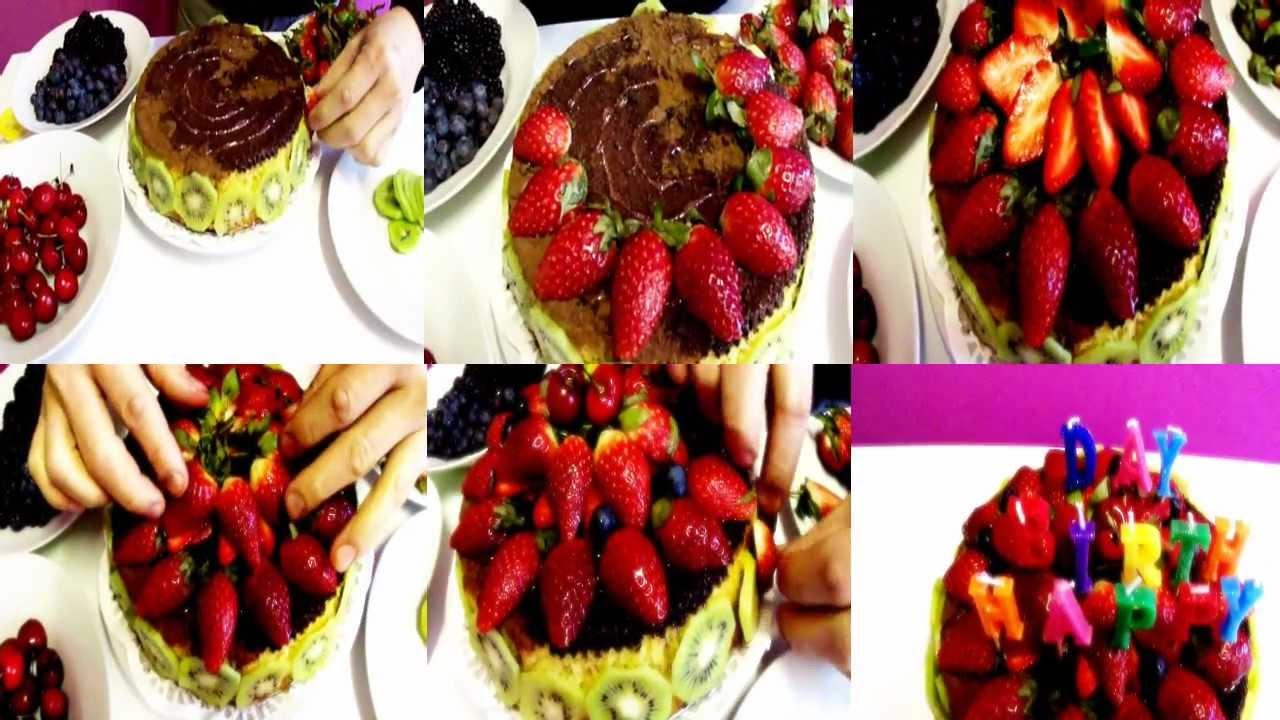 Happy Birthday To You Chocolate Strawberry Marble Cake Yummy