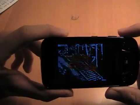 Samsung galaxy running Android 2.0 Eclair Mustymod beta