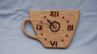 как сделать кофейные часы