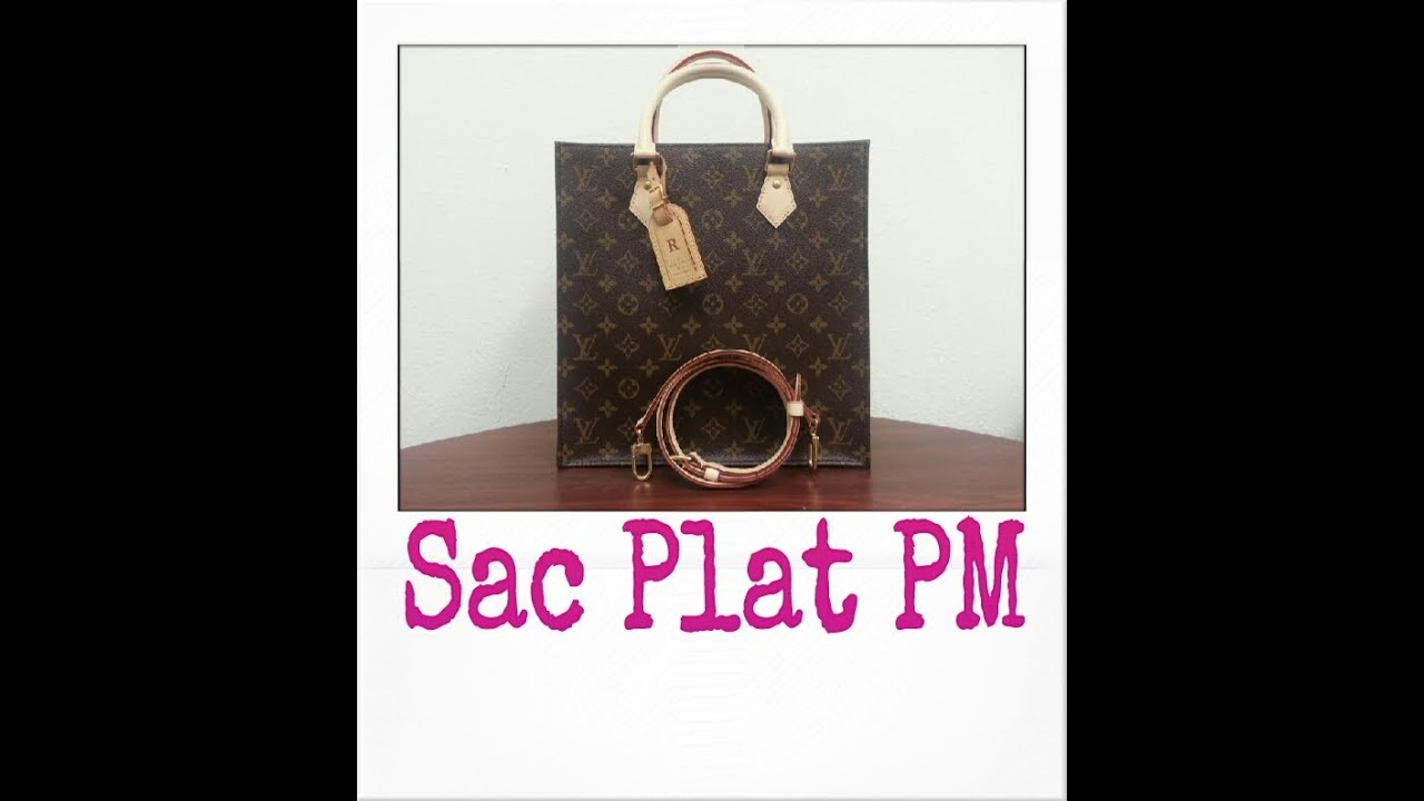 deaaa90f65fe Louis Vuitton Sac Plat PM Monogram (petite size w  detachable strap ...