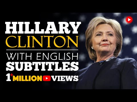 ENGLISH SPEECH | HILLARY CLINTON: Be Resilient (English Subtitles)