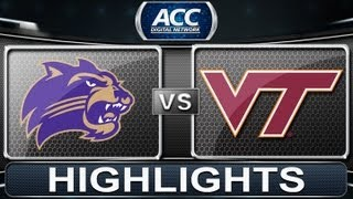 2013 ACC Football Highlights | Western Carolina vs Virginia Tech | ACCDigitalNetwork