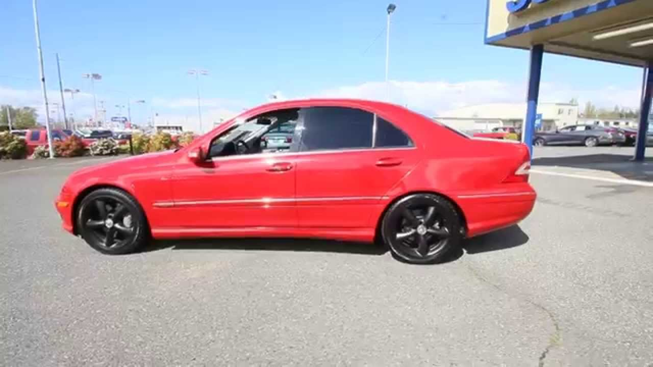 2006 Mercedes Benz C Cl C230 Sport Mars Red 6f746175 Skagit County Mt Vernon