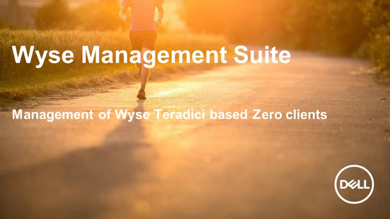 Wyse Management Suite 1 3 (Teradici Zero client management)