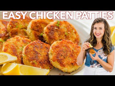 CHICKEN PATTIES - Leftover CHICKEN Recipe