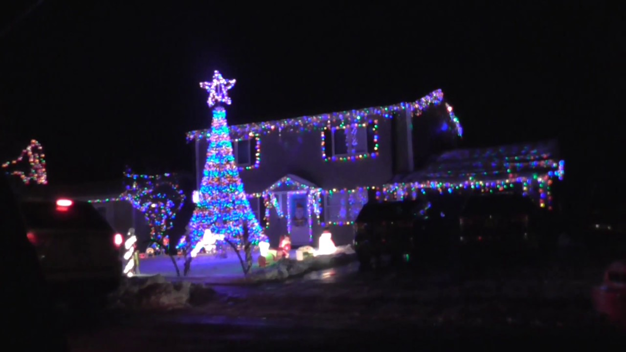 christmas music light display house alpena michigan 2016 all i want for christmas is you - Christmas Light Show Michigan