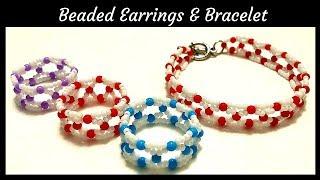 Beaded jewelry making. Beaded bracelet & Beaded rings