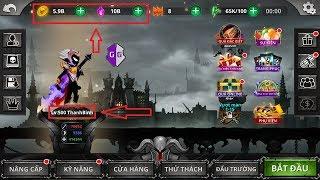 Hack level (cấp) game Stickman Legends, hack vàng, hack ngọc, hack chìa khóa huyền thoại
