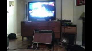 """Rocksmith with VOX AC15C1 amplifier also plugged in to the guitar. """"I Can"""