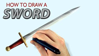 How To Draw A Sword (Painter 2015 Tutorial) [Draw This #47]