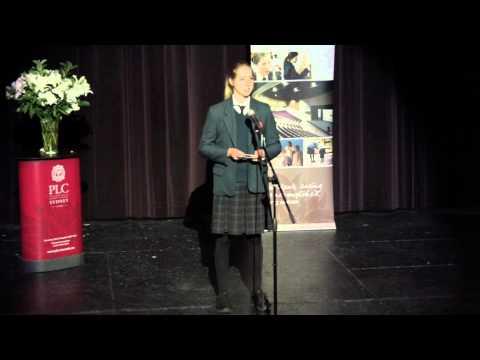 PUBLIC SPEAKING CHALLENGE Senior Showreel 2014   PLC Sydney